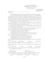 ĐỀ THI TRẮC NGHIỆM MÔN :ANH VĂN LỚP 12 - Mã đề thi 002 pps