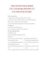 Giáo án Công dân lớp 9 : Tên bài dạy : THỰC HÀNH NGOẠI KHOÁ CÁC VẤN ĐỀ ĐỊA PHƯƠNG VÀ CÁC NỘI DUNG ĐÃ HỌC pdf