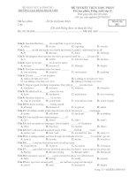 ĐỀ THI KẾT THÚC HỌC PHẦN Tên học phần: Tiếng Anh Lớp 12 - Mã đề thi 002 pot