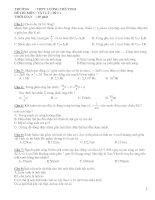 Đề thi môn vật lý ( đề 2 ) Trường THPT Lương Thế Vinh ppsx