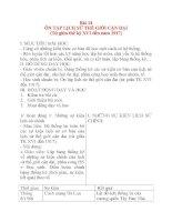 Giáo án Lịch Sử 8: Bài 14 ÔN TẬP LỊCH SỬ THẾ GIỚI CẬN ĐẠI ppt