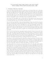 CÁC GIẢI PHÁP THỰC HIỆN CHIẾN LƯỢC PHÁT TRIỂN NÔNG NGHIỆP, NÔNG THÔN GIAI ĐOẠN 2011 - 2020 1. pot