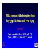 Bài giảng điều trị HIV : Tiếp cận các hội chứng tiêu hoá hay gặp: Nuốt đau và đau bụng part 1 docx