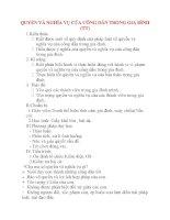 Giáo án Công Dân lớp 8: QUYỀN VÀ NGHĨA VỤ CỦA CÔNG DÂN TRONG GIA ĐÌNH (Tiết 2) pptx