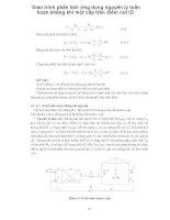 Giáo trình phân tích ứng dụng nguyên lý tuần hoàn không khí một cấp trên điểm nút ID p1 doc