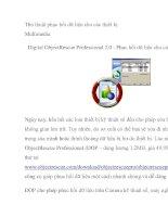 Thủ thuật phục hồi dữ liệu cho các thiết bị Multimedia pptx