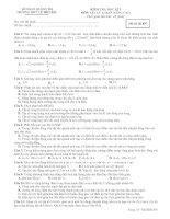 KIỂM TRA HỌC KÌ I MÔN VẬT LÝ 12 BAN NÂNG CAO - Mã đề thi 897 ppsx