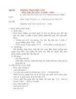 Giáo án Lịch Sử 8: Bài 20:PHONG TRÀO ĐỘC LẬP DÂN TỘC Ở CHÂU Á (1918 – 1939) ppt