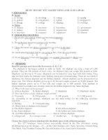 ĐỀ ÔN THI THỬ TỐT NGHIỆP TIẾNG ANH 12 SỐ 2 pdf