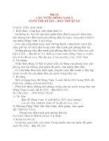 Giáo án Lịch Sử 8: Bài 11: CÁC NƯỚC ĐÔNG NAM Á CUỐI THẾ KỈ XIX – ĐẦU THẾ KỈ XX doc