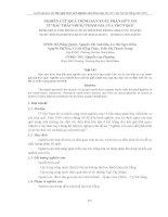 NGHIÊN CỨU QUÁ TRÌNH SẢN XUẤT PHÂN HỮU CƠ TỪ RÁC THẢI VỚI SỰ THAM GIA CỦA TRÙN QUẾ pptx