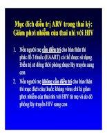 Bài giảng điều trị HIV : Dự phòng lây truyền HIV từ mẹ sang con part 5 docx