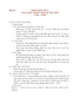 Giáo án Lịch Sử 8: Bài 19 :NHẬT BẢN GIỮA HAI CUỘC CHIẾN TRANH THẾ GIỚI (1918 – 1939) ppsx