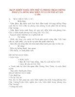 Giáo án Lịch Sử lớp 8: Bài 27: KHỞI NGHĨA YÊN THẾ VÀ PHONG TRÀO CHỐNG PHÁP CỦA ĐỒNG BÀO MIỀN NÚI CUỐI THẾ KỶ XIX (1 tiết) pot