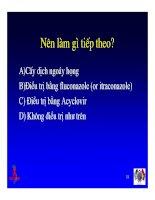 Bài giảng điều trị HIV : Tiếp cận các hội chứng tiêu hoá hay gặp: Nuốt đau và đau bụng part 3 pps