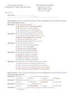 ĐỀ THI THỬ TN THPT Năm học 2010-2011 MÔN: TIẾNG ANH - Mã đề: 574 ppsx