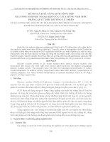ĐÁNH GIÁ KHẢ NĂNG SINH TỔNG HỢP GLUCOSE OXIDASE NGOẠI BÀO CỦA CÁC CHỦNG NẤM MỐC PHÂN LẬP TỪ MÔI TRƯỜNG TỰ NHIÊN doc