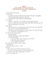 Giáo án Lịch Sử 8: Bài 6: CÁC NƯỚC TƯ BẢN CHỦ YẾU CUỐI THẾ KỶ XIX – ĐẦU THẾ KỶ XX potx