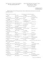 ĐỀ THI THỬ ĐẠI HỌC NĂM 2011 - LẦN 1 Môn: Tiếng Anh - Mã đề thi 209 ppsx