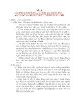 Giáo án Lịch Sử 8: BÀI 8: SỰ PHÁT TRIỂN CỦA KĨ THUẬT, KHOA HỌC, VĂN HỌC VÀ NGHỆ THUẬT THẾ KỈ XVIII – XIX doc