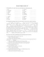 TEST FOR UNIT 15 pdf