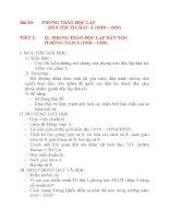 Giáo án Lịch Sử lớp 8: Bài 20:PHONG TRÀO ĐỘC LẬP DÂN TỘC Ở CHÂU Á (1918 – 1939) doc