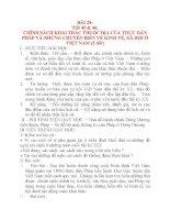 Giáo án Lịch Sử lớp 8: BÀI 29: CHÍNH SÁCH KHAI THÁC THUỘC ĐỊA CỦA THỰC DÂN PHÁP VÀ NHỮNG CHUYỂN BIẾN VỀ KINH TẾ, XÃ HỘI Ở VIỆT NAM ppsx