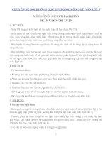 Chuyên đề bồi dưỡng học sinh giỏi môn ngữ văn lớp 9