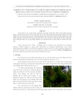 NGHIÊN CỨU TÍNH CHẤT ỨC CHẾ ĂN MÒN THÉP CT3 TRONG DUNG DỊCH NACL 3,5% CỦA TANIN TÁCH VỎ CÂY THÔNG CARIBAEA pdf