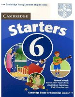 starters 6 student''''''''s book