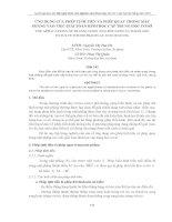 ỨNG DỤNG CỦA PHÉP TỊNH TIẾN VÀ PHÉP QUAY TRONG MẶT PHẲNG VÀO VIỆC GIẢI TOÁN HÌNH HỌC CẤP TRUNG HỌC CƠ SỞ pps