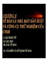 NHẬP MÔN CÔNG NGHỆ SINH HỌC - CHƯƠNG 2 doc
