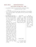 Giáo án Lịch Sử 8: Bài 16 :LIÊN XÔ XÂY DỰNG CHỦ NGHĨA XÃ HỘI (1921 – 1944) (tiết 2) potx