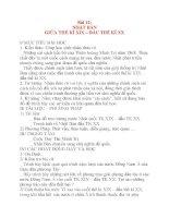 Giáo án Lịch Sử 8: Bài 12: NHẬT BẢN GIỮA THẾ KỈ XIX – ĐẦU THẾ KỈ XX ppt