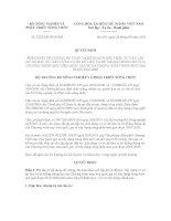 Quyết định số 2220/QĐ-BNN-KH pot
