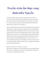 Truyền nhân ẩm thực cung đình triều Nguyễn doc