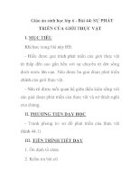 Giáo án sinh học lớp 6 - Bài 44: SỰ PHÁT TRIỂN CỦA GIỚI THỰC VẬT pps