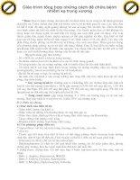 Giáo trình tổng hợp những cách để chữa bệnh nhiễm xạ trong xương phần 1 pdf