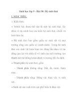 Sinh học lớp 9 - Bài 50: Hệ sinh thá ppsx