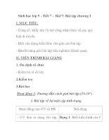 Sinh học lớp 9 - Tiết 7 - Bài 7: Bài tập chương I ppsx