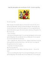 Sáng kiến kinh nghiệm môn văn mẫu giáo 4-5 tuổi – Cáo, thỏ và gà trống ppt