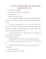Giáo án Lịch Sử lớp 10: XÂY DỤNG VÀ PHÁT TRIỂN VĂN HOÁ DÂN TỘC TRONG THẾ KỶ X - XV pdf