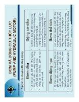 Bơm và động cơ thủy lực 1 pptx