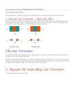 Đề tài : Cấu tạo và nguyên tắc hoạt động của Transistor thuận và Transistor ngược pptx