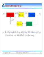 Bài giảng lý thuyết điều khiển tự động - Mô tả toán học hệ thống điều khiển rời rạc part 2 doc