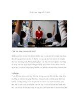 10 cách học tiếng Anh tốt nhất doc