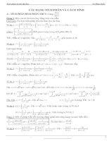 các dạng tích phân và cách tính ôn thi đại học