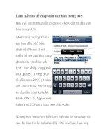 Làm thế nào để chép/dán văn bản trong iOS pot