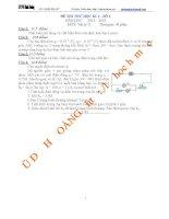 đề ôn tập, kiểm tra học kì 1 vật lí 11