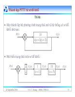 Bài giảng lý thuyết điều khiển tự động - Mô hình toán học, hệ thống điều khiển liên tục part 10 ppt